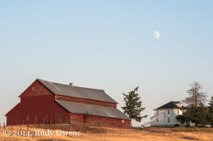 Barn and Farmhouse, Lincoln County, August 2014