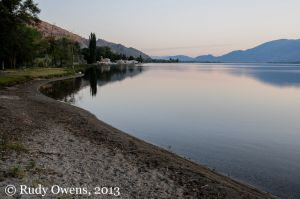 Osoyoos Lake, Morning Light, August 2013