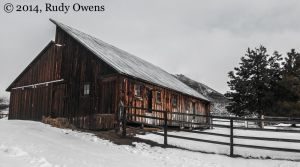 Barn in Winter, Okanogan County, February 2014
