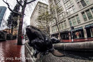 Oregon, the Beaver State (Beaver Sculpture, Downtown Portland)